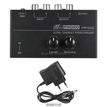 PP500 فونو Preamp Preamplifier مع التحكم في مستوى الصوت ل LP فينيل الدوار دروبشيب