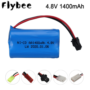 4.8v 1400mah Ni-Cd Battery nicd battery pack SM plug for RC cars RC boat toy Battery 4.8 V AA 1400 mah rechargeable Battery image