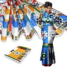 4+2yards satin silk with Chiffon Fabric Soft African Fabric Ankara African Prints Wax for Party Y200417-10
