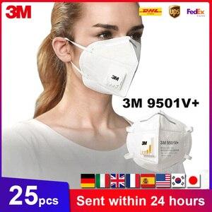 3M KN95 9501V 9501V + Máscara Máscaras de Protecção Máscara de Segurança Máscara Descartável Rosto Boca Máscara Com Válvula De Fluxo Fresco Respirável Em Estoque