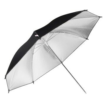 """Ayuda Flash 85cm 33 """"105cm 43"""" paraguas plateado estudio Reflector de cámara accesorios de fotografía Metal paraguas hueso"""