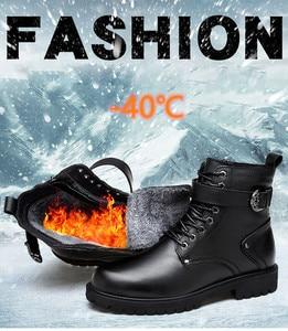 Image 2 - 39 46 men boots Non Slip 2019 Comfortable warm men winter shoes #NXZY1098