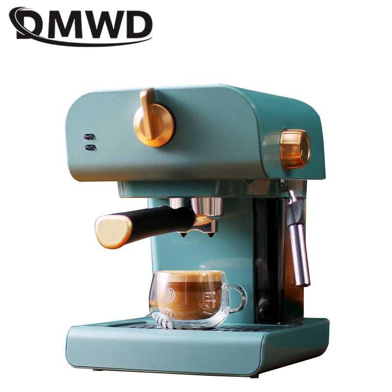 Dmwd 0 8l الايطالية ماكينة صنع قهوة اسبريسو ماكينة القهوة الكهربائية كابتشينو الحليب فروذرز رغوة ارتفاع ضغط البخار 20bar 220v آلة إعداد القهوة Aliexpress