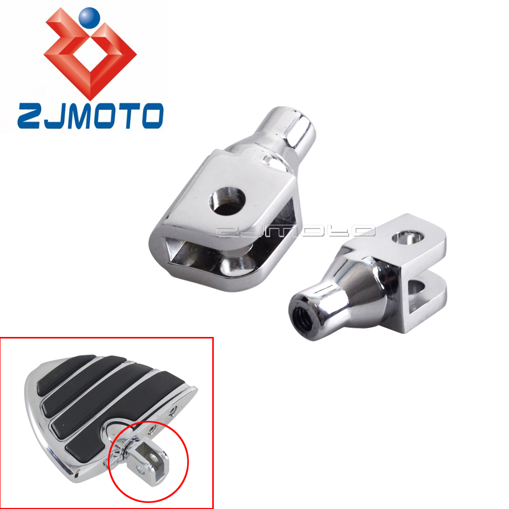 Motorcycle Chrome Footrests Adjuster Foot Pegs Female Mount Adapter For Honda Suzuki Boulevard M109R M50 M90 Volusia 800 GL1800