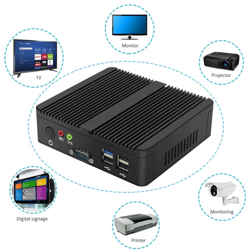 Fanless Mini PC Dual LAN Celeron N2810 J1900 Mini Computer 2*Gigabit LAN Windows 7/8/10 WIFI HDMI USB Desktop Micro