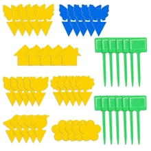 X7XD 40/49pcs Yellow Stickers Flying Plant Insect Catcher Dual-Sided Sticky Traps Fight Indoor Plants Potted Plants Stickers