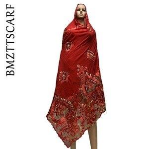 Image 5 - באיכות גבוהה אפריקאי נשים צעיפים רך שיפון צעיף אחוי עם נטו כבד שיפון צעיפים עבור להתפלל צעיפים BM772