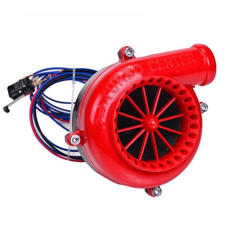 Compresor de válvula de alivio de turbina electrónico falso volquete rojo para coche Turbo central sonido simulado