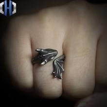 Original Design Handmade Silver Dragon Ring Personalized 925 Wild Open