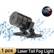 цена на New Car Laser Tail Fog Light Anti Collision car forlight Lamp Braking Parking Signal Warning Lamps Universal LED car fog light