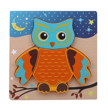 Owl Butterfly Cartoon Animal Puzzles Kids Toys For Children Gift Baby Montessori Educational Learning Wooden Toys montessori wooden puzzles toys for kids educational children puzzles board animal fruit gifts toys wholesale dropshipping
