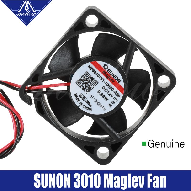 Mellow Sunon 12V Magnetic Suspension Bearing 3010 Fan 30*30*10mm 3010s DC Fan Cooling V6 Extruder 3D Printer Accessories Parts