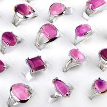 Кольца 5 шт/лот с фиолетовыми кристаллами отправляются случайным
