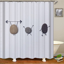 Solid Color Simple And Fresh Shower curtain  Polyester Fabric For Home Decoration christmas shower