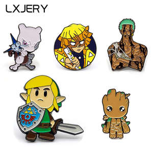 LXJERY Cartoon Characters Pin Badge On Backpack Brooch Pins For Clothes Broche For Women Girls Gift