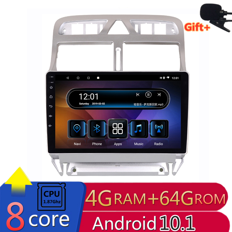 2 din 8 core android 10 <font><b>car</b></font> <font><b>radio</b></font> auto stereo for <font><b>Peugeot</b></font> <font><b>307</b></font> sw cc 2002 2004 2005 07 2013 navigation GPS DVD Multimedia Player image