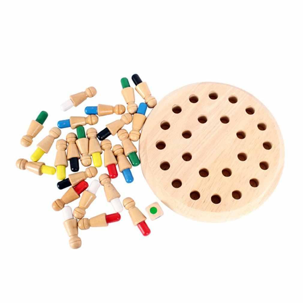 2019 nouveaux enfants mémoire Match bâton échecs en bois échecs dames jeu de société famille fête jeu Puzzle bébé jouets éducatifs