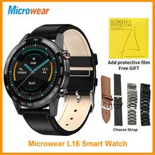 Prezent Microwear L16 inteligentny zegarek IP68 wodoodporny ekg PGG HD nocny Monitor pracy serca 1 3 calowy Alarm IPS VS L13 SmartWatch tanie tanio CN (pochodzenie) Android OS Na nadgarstku Wszystko kompatybilny 128 MB Passometer Fitness tracker Uśpienia tracker