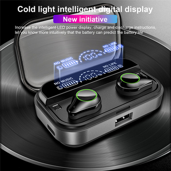 T10 TWS Bluetooth Headset Fingerprint Touch HD Stereo noise fone de ouvido Wireless Bluetooth Earphone Гарнитура для телефона