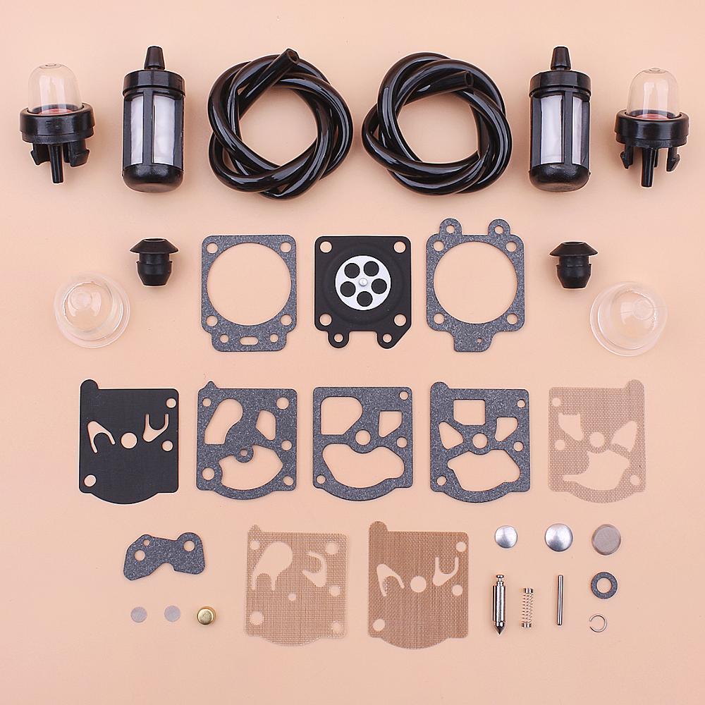 Fuel Filter Line Primer Bulb Carburetor Repair Kit For Stihl FS36 FS40 FS44 Primer Bulb Knob Trimmer