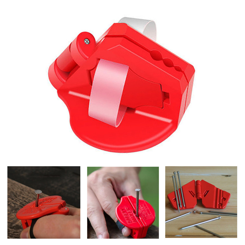 Safety Nailer Mini Protection Finger Carpentry Small Screw Manual Plastic Nail Holder Industrial Hand Protector Woodworking Tool|Outdoor Tools| |  - title=