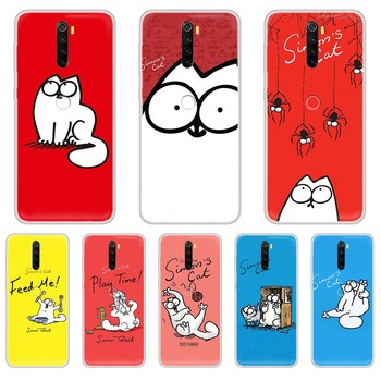 lovely Simons Cat 3D soft cover cell cover Transparent Phone Case cover For XIAOMI Redmi Note 3 4 5 6 7 8 9 9s Pro max 8T 4X image