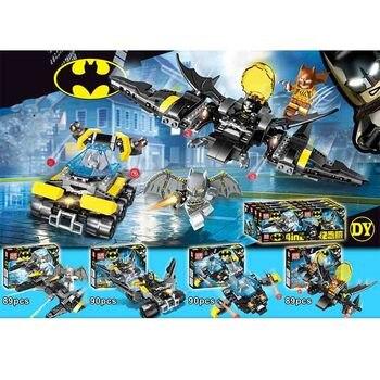цена на 4pcs Avengers 4 War Super Heroes Batman Building Blocks Bricks Boy Toys