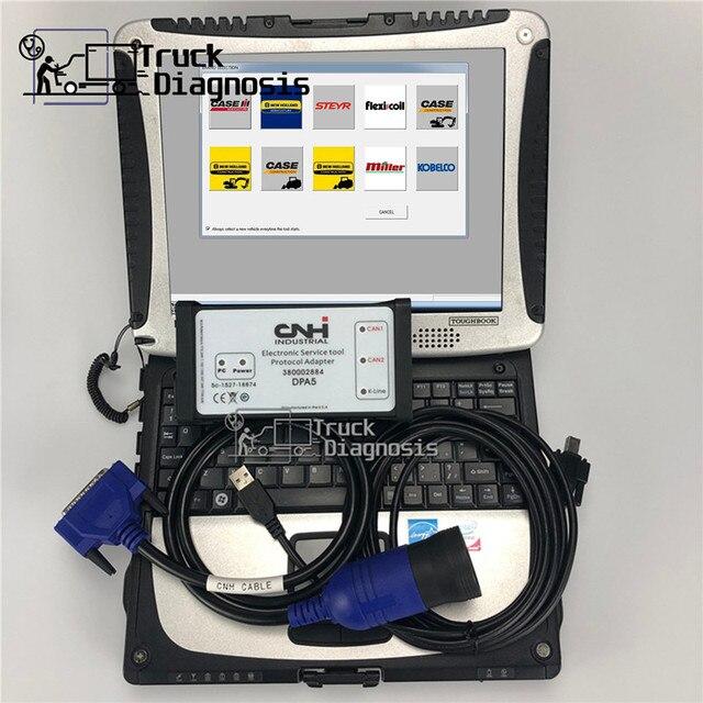 CF19 ordenador portátil + 9,2 sotfware CNH Est, sotfware CNH Est kit de diagnóstico para New Holland case, herramienta de escáner de diagnóstico dpa5 cnh, servicio electrónico