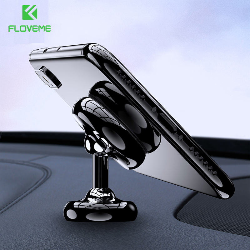 FLOVEME Magnetic Car Phone Holder For Phone In Car For iPhone 11 7 8 XR Redmo Note 8 Pro Mobile Phone Support Magnet Mount Stand(China)