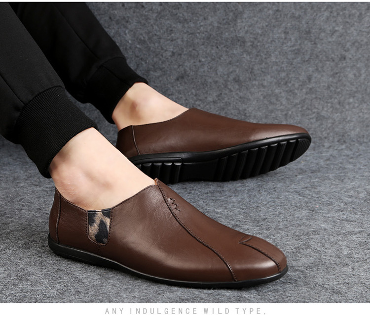 Solid Spring Autumm Casual Loafers Shoes for Men Classics Concise Light Flat Slip On Shoes Fashion Leisure Driving Shoes 52