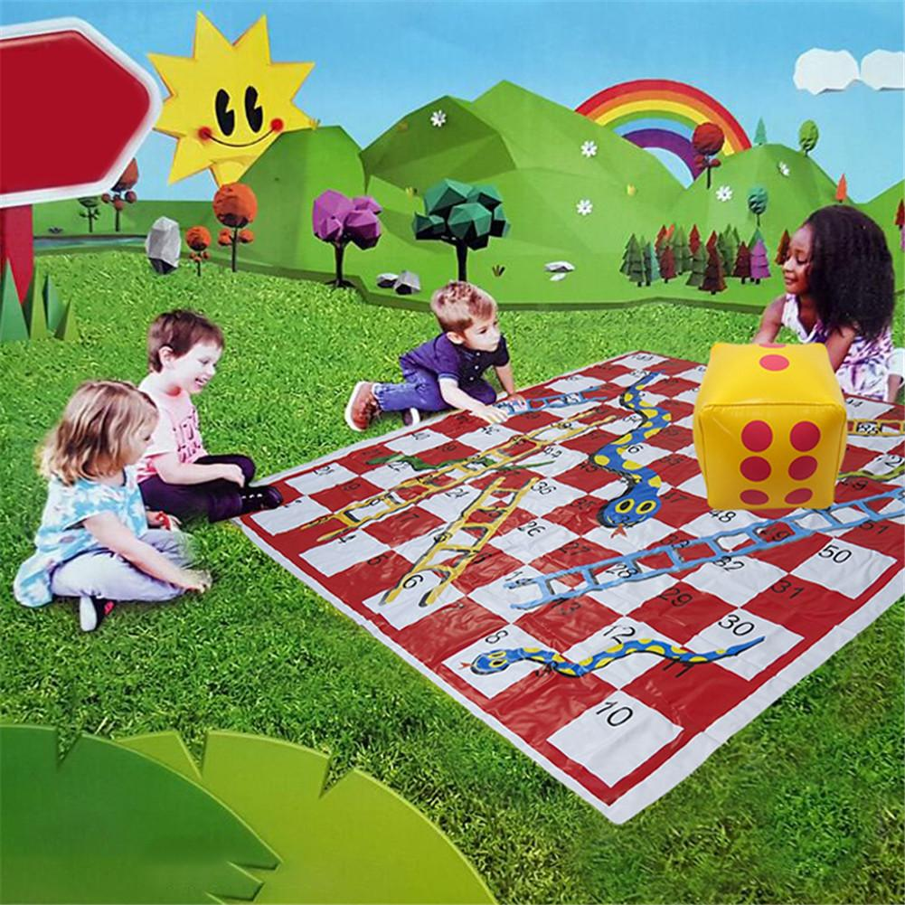Snakes And Ladders Board Game Set Thick Pvc Game Mat Parent-child Interaction Toys Family Game For Outdoor Picnic
