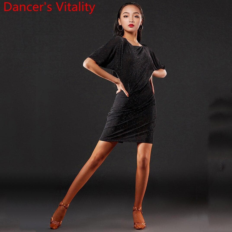 Latin Dance Performance Clothes Women Adult Cut Out Sexy Split Dress Professional Rumba Samba Tango Cha Cha Dancing Stage Wear