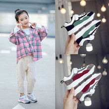 Fashionable New Childrens Sports Shoes Korean Version Mesh Breathable Girls Casual Running кроссовки 2020 мужские