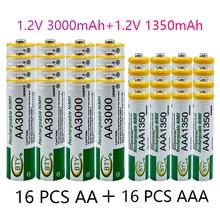 Batterie rechargeable 1.2V, 3000mAh, Ni MH, AAA, 1350MA, 1.2V
