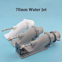 70mm Jet su itici ile 5/6mm paslanmaz mil kaplinler 8X5/6mm tekne için sörf tahtası rc Model tekne