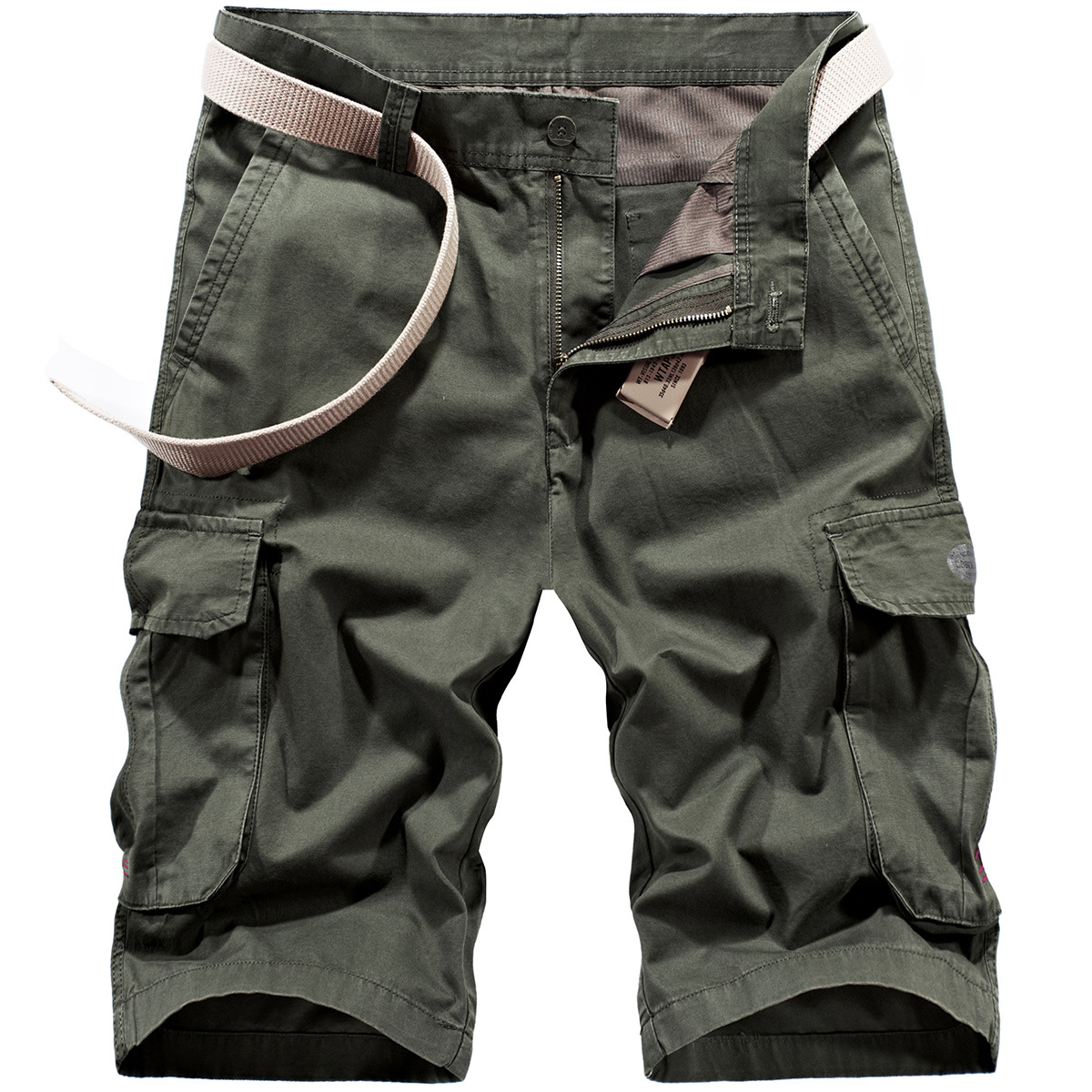 2019 Summer Men's Casual Shorts Large Size Loose Straight Short Bib Overall 8713