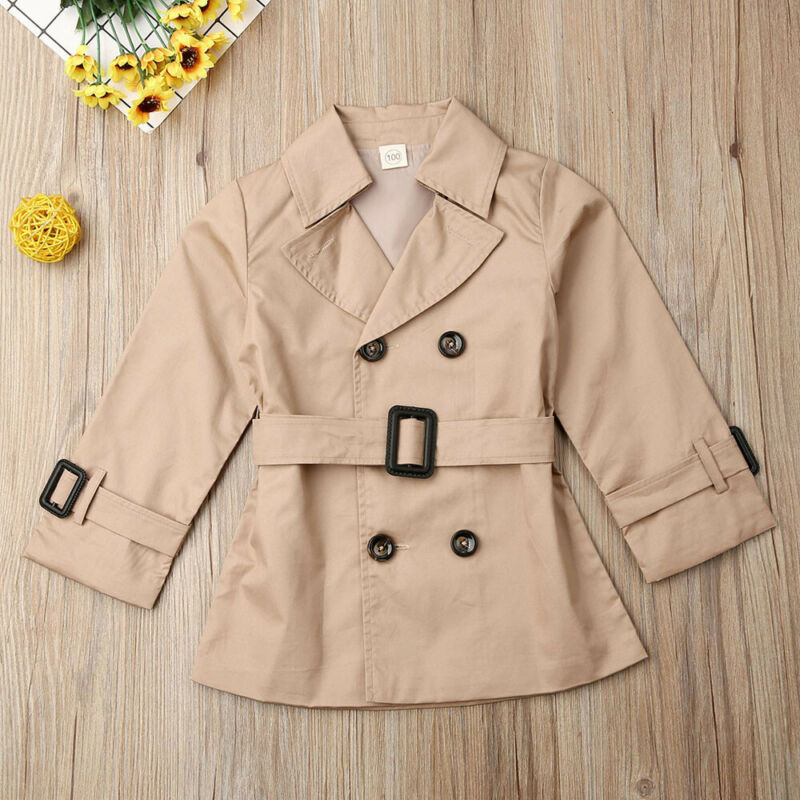 UK Autumn   Trench   Toddler Kids Baby Girls   Trench   Coat Autumn Jacket Windbreaker Outerwear Coats