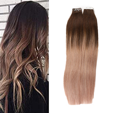 Brazilian Tape In Extensions Human Hair Double Side Tape Skin Weft Invisible Hair Extensions Silk Straight For Women