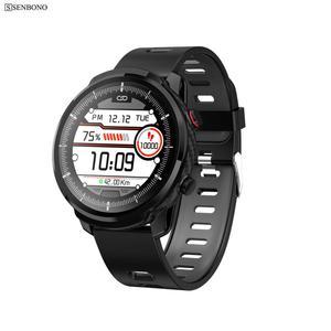 Image 1 - SENBONO 2020 S10plus Sport Full Touch männer Smart Uhr IP67 Wasserdicht Herz Rate Fitness Tracker Uhr Smartwatch für IOS