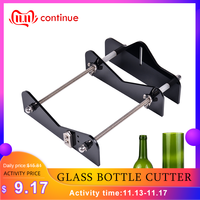 Professional Glass Bottle Cutter Acrylic DIY Bottle Cutting Tool with Sandpaper for Wine Beer Bottles Mason Jars