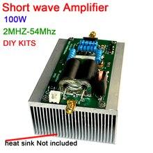 100W SSB doğrusal HF güç amplifikatörü MINIPA DIY kitleri 1.8m 54 MHz YAESU FT 817 KX3 CW AM FM amatör radyo