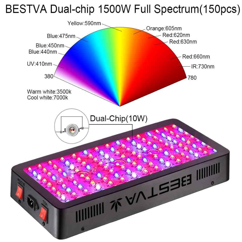Светодиодная лампа для выращивания всего спектра BESTVA 600 Вт/1000 Вт/1200 Вт/1500 Вт/2000 Вт/3000 Вт лампа для комнатных растений растут палатки для выращивания овощей, цветущих растений переключатель Фито
