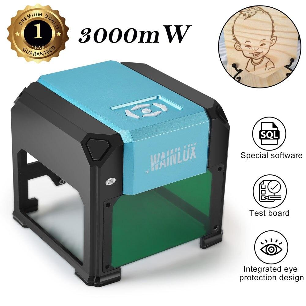 Mini grabadoras port/átiles de escritorio K6 3000mW con /área de grabado de 80 80 mm
