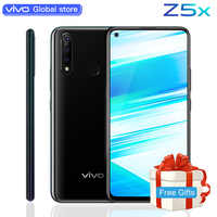 Téléphone portable celulaire d'origine vivo Z5x 6.53 écran 6G 128G snapdragon 710 Octa Core Android 9 5000mAh grande batterie Smartphone