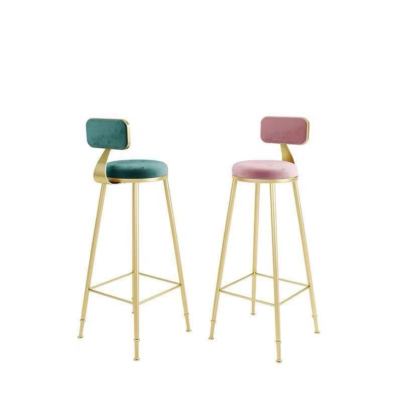 Iron Bar Chair Retro American Bar Stool Home Bar Stool Solid Wood High Stool Creative Old Industrial Wind