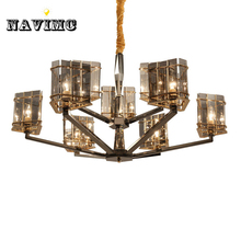 Mediterranean Northern Europe k9 Crystal Chandelier Lighting for Living Room Bedroom Dining Room Restaurant Hanging Pendant Lamp