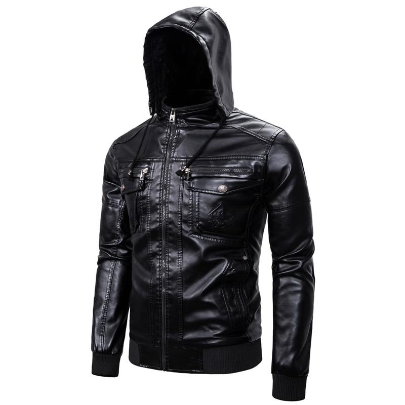 Automotive Winter Sheepskin Coats Velvet Warm Clothing European Overcoats Plus Size XXXL Hooded Leather Jackets And Coats B759