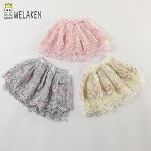 Welaken/летние юбки-пачки с блестками и звездами для девочек; детская одежда; детская танцевальная фатиновая юбка-американка принцессы; одежда для маленьких девочек