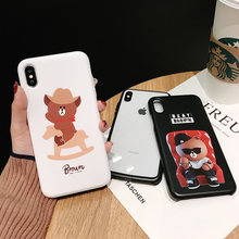 Amigos Urso Coréia Casos de Telefone Capa para o iphone X XR XS MAX 6 7 8 6s Mais Caso Coque iphone XR XS MAX Casos Suaves(China)