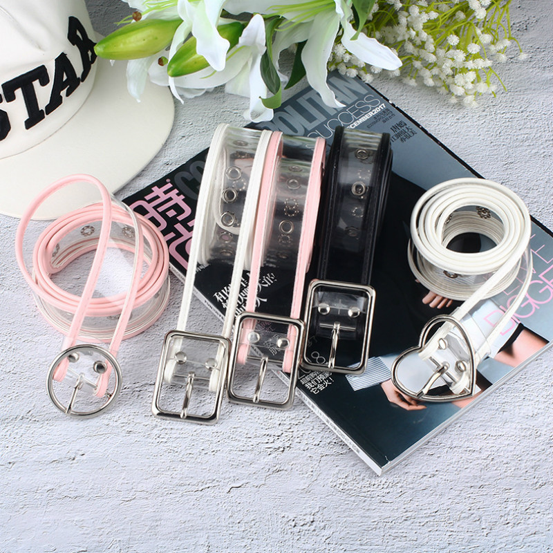 Waist Belts Women Resin Transparent Long Belt Adjustable Waist Dress Band Belt Heart Buckle Cinturon Mujer Cinturones Para